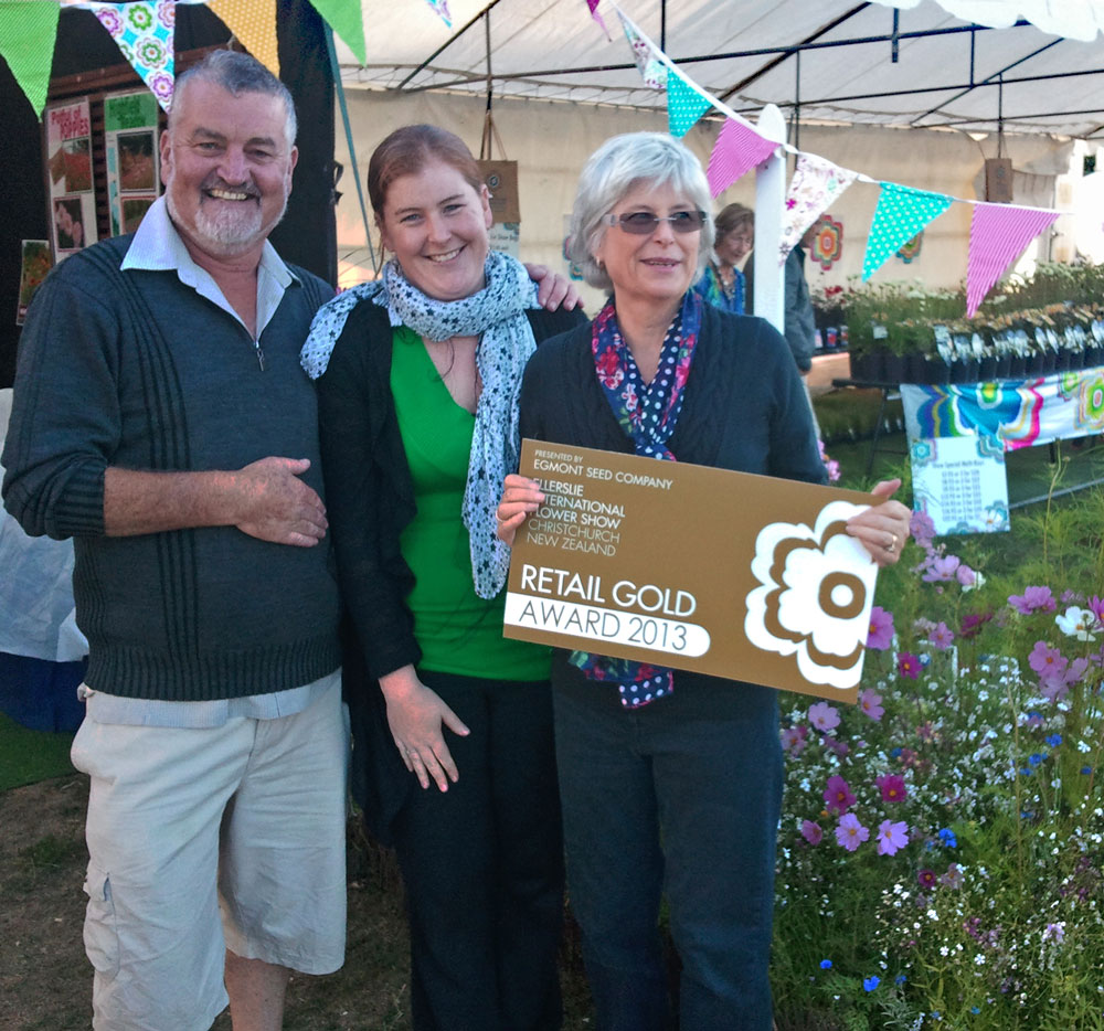 Geoff Emily & Liz Brunsden at Ellerslie Flower Show 2013